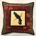 Australiana cushion cover - RED TAILED BLACK COCKATOO