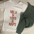 Nap, Toys and milk