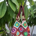 Granny square bag, Retro Vintage Hippy bags