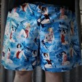 """Rockabilly Beach Scence ""-Adults Novelty Shorts"