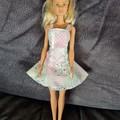 Barbie doll dress - pastel patchwork print