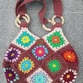 Granny square bag, Market Bag, Eco Friendly