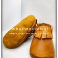 Leather fringe moccasin