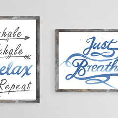 2 for 1 Instant Download Calligraphy Typography Set