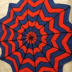 Spiderman inspired blanket
