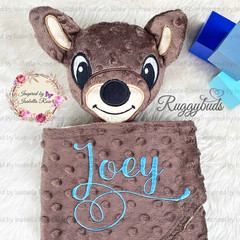 Joey/Kangaroo Australiana 'Ruggybud' - personalised, comforter, keepsake, lovey.