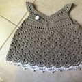 Crochet 100% Cotton Baby,  Christening,Boho, Vintage Dress,💕  Newborn-6 month