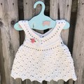 Crochet 100% Cotton Baby Girl Boho Vintage Dress,💕 Size Newborn-6 month