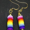 Rainbow Earrings - Dangle earrings, Rainbow style for pierced ears