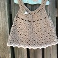 Crochet 100% Cotton , Dress, Boho, Vintage Size 12-18 months
