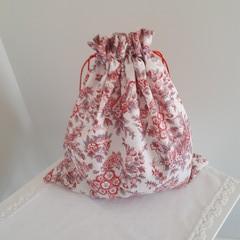 Jane Austen - Drawstring Bag  - Regency Style Riley Blake Fabric Free Post