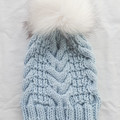 WOOL BLEND VIENO BEANIE (Adult) - Ice Blue
