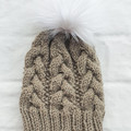 ADULT GUMNUT BEANIE - Natural (beige)
