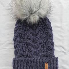 ADULT VIENO BEANIE - Marine Blue - 100% Australian Wool