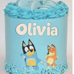 Bluey Personalized Logo Edible Icing Cake Topper