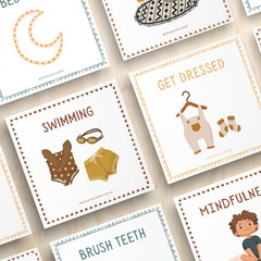 72 Toddler Routine Cards