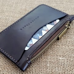 Chocolate Zip Purse with Card Pocket