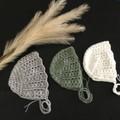 Crochet Vintage Baby Bonnet