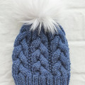 ADULT GUMNUT BEANIE - Denim Blue