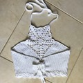 Crochet Boho Halter Crop Top 100% Cotton