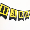 Custom Name Banner. Construction Party Banner. First Birthday party.