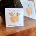 Marbled Peach - Medium Heart studs