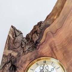 SKELETON CLOCK IN NATURAL EDGE WOOD