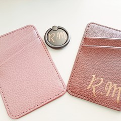 Mobile Phone Ring & Wallet set, Personalised,  Monogrammed