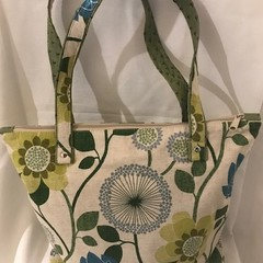 Bag - Blue and Green flowers