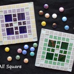 Mosaic Square Coaster Pairs