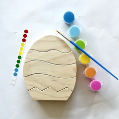 Paint your own handmade Wooden Easter Egg Stacker.