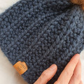 BULKY TODDLER BEANIE - Fits 2-5 years old - Dark Blue