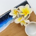 BLUE BEACH SERVING BOARD WITH 3X BOWLS
