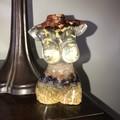 SALE Handmade LARGE Gemstone Resin Female Torso Sculpture