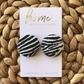 Recycled Animal Print Leopard Print Zebra Print Stud Earrings | Mother's Day |