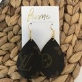Recycled Faux YSL Saint Laurent Teardrop Dangle Earrings