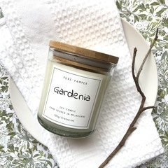 Highly Scented Soy Candle - Gardenia - Floral Scent
