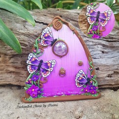 Purple delights Butterfly Fairy Door