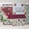Floral happy birthday  card