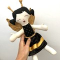Bee Sprite handmade Rag Doll - fairy doll