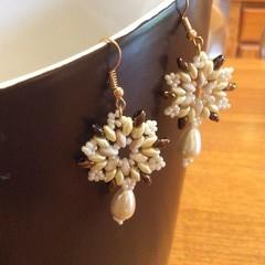 Snowflake earrings.