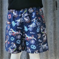 """Motor Bikes""- Kids Novelty Shorts"