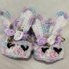 Newborn baby booties bunny booties Easter