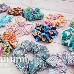 Large Scrunchie / Lots of cute fabrics to chose from! /Pony tail holder / Cotton
