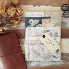 Junk Journal Kit / Vintage Papers / Collage Papers