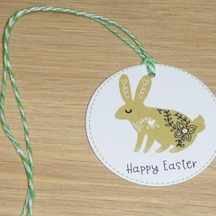 Easter Gift tags - set of 12 - scandi bunny