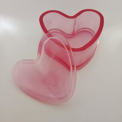 Red resin heart shaped jewelry box / trinket bowl