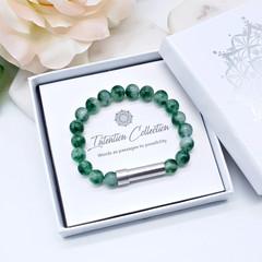 Green Moss Agate Beaded Intention Bracelet | Wish Bracelet | Secret Message