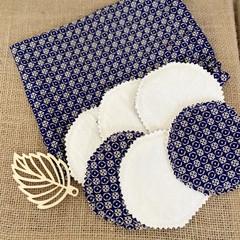 Handmade reusable make up wipes