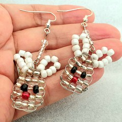 Bunny beaded earrings